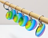 Translucent Rainbow Stitchmarkers for Knitters or Crocheters