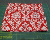 Sale Fabric Sale - 1 Yard - Michael Miller Dandy Damask Red White Rouge - Quilting Cotton Destash