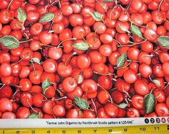 Farmer John's Organic Cherries 100% Cotton Style 120-0461 - Fabric by the yard