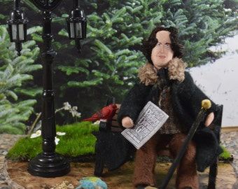 Oscar Wilde Doll- Diorama Art- Classic Literature-  Author and Writer - Victorian Author