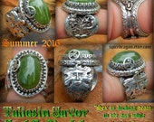 Taliesin Favor An tAdh Nocht 17 3 ct peridot set in Tree of Life moon owl triskelion triquetra  Greenman