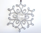 Snowflake Ornament . Christmas Ornaments . Wire Ornament . Personalized Ornaments . Wire Wrapped