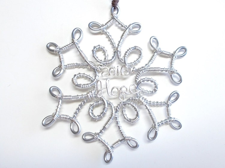 snowflake ornament christmas ornaments wire by wiremajigs. Black Bedroom Furniture Sets. Home Design Ideas