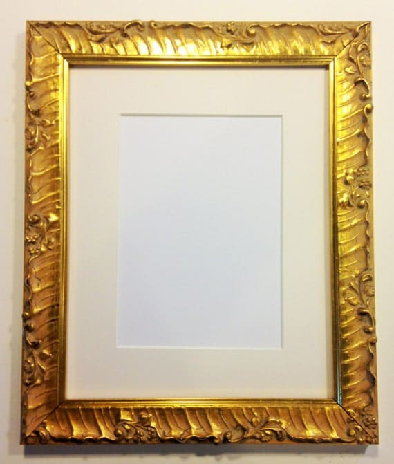 Fancy Gold Picture Frame 9 X 12 Ready To Ship