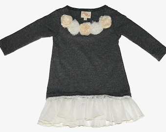SAMPLE SALE -  Hope Tunic in Fog - Size 18m... Lovely!