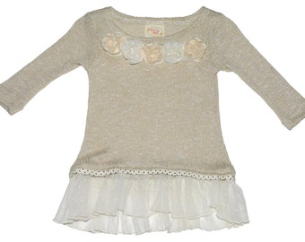 SAMPLE SALE -  Hope Tunic in Stone - Size 4... Lovely!