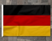 Germany Cotton Flag, Machine Stitched Banner, German Pennant