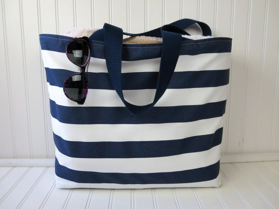 Striped Beach Bag Large Beach Bag Waterproof Beach Bag