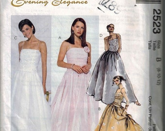 Gorgeous Bridal Gown Dress Sewing Pattern Formal McCalls 2523 Pattern Sizes 8-10-12 UNCUT OOP Evening Elegance