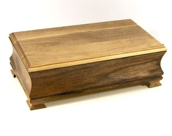 Handmade Wood Jewelry Box Black Walnut Wood