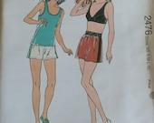 Kwik Sew Misses Sports Bra Shorts Tank Top Pattern 2476