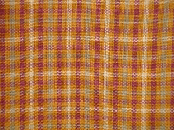 Homespun Fabric Cotton Fabric Plaid Fabric Quilt Fabric Home Decor Fabric Craft Fabric