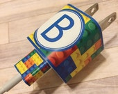 iPod or iPhone charger wrap, personalized, lego, cord wrap, custom charger wrap