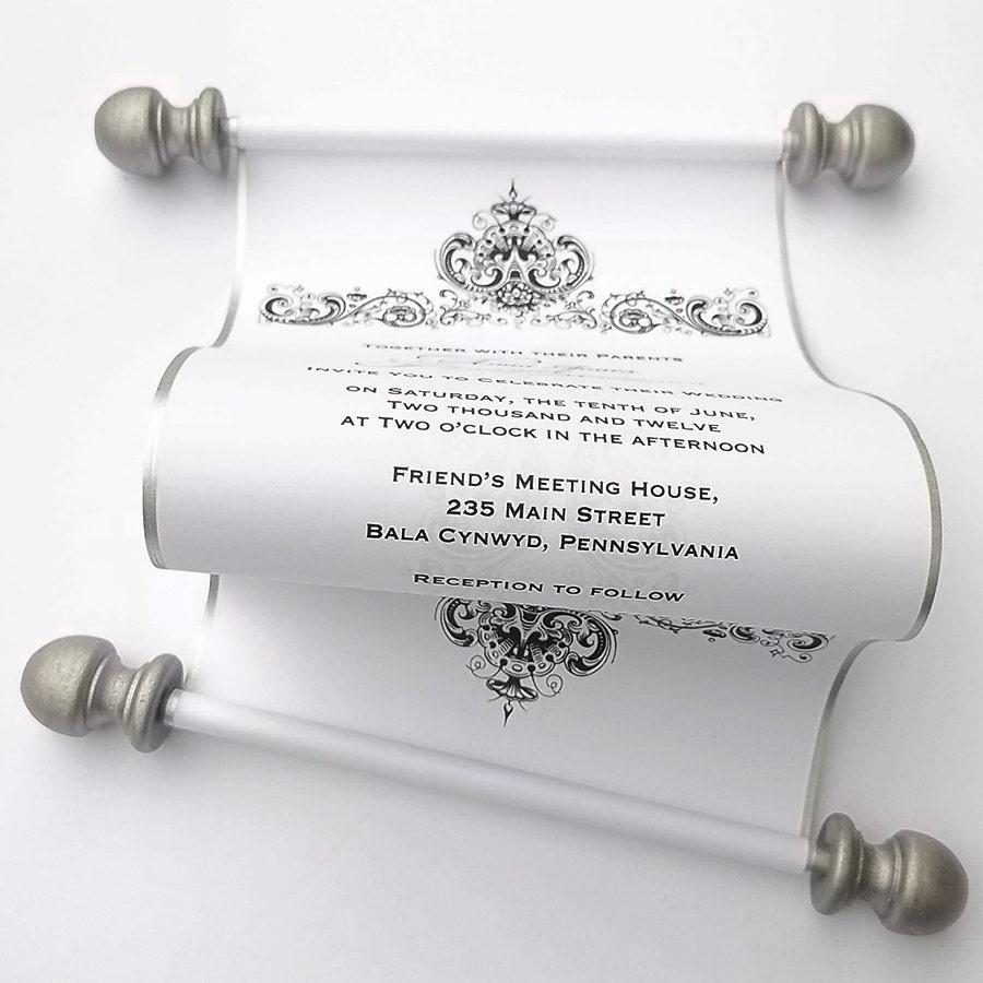 elegant wedding invitation scrolls black classy wedding invitations zoom