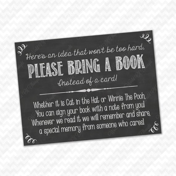 Sassy image pertaining to bring a book instead of a card printable