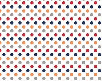 "SALE Riley Blake Designs ""Small Dot"" Boy - 1/2 Yard"