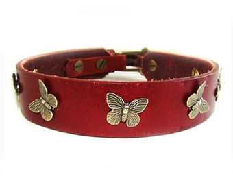 Pokey butterfly dog collar