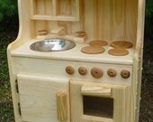 Wooden toy kitchen, SHIPS within 48 hours ,play kitchen, toy kitchen all natural,