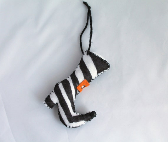 Halloween Felt Hanging Ornament Fancy Witch Boot Halloween Decoration