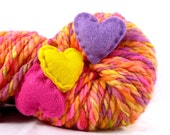 Destash SALE- Hand Spun Super Bulky Art Yarn- Groove is in the Heart
