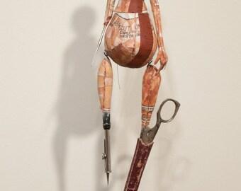 Art Doll, Fine Art, Sculpture, Wall Art, Wall Sculpture, Sewing Pattern, Sewing Tools, Doll, Mixed Media, Figurative Art, Sculpted Doll