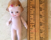 Miniature German Doll with Floral Head Band