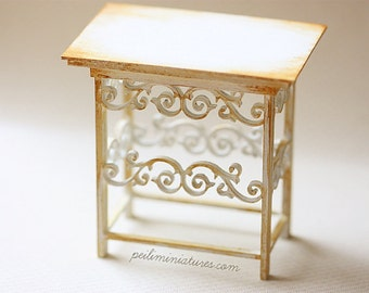 Dollhouse Miniature 1/12th Scale Kitchen Buffet Table