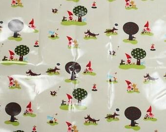 4145 -  Little Red Hood (Light Cream) Oilcloth Waterproof Fabric - 27 Inch (Width) x 19 Inch (Length)