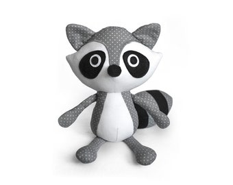 Raccoon softie pattern PDF sewing toys