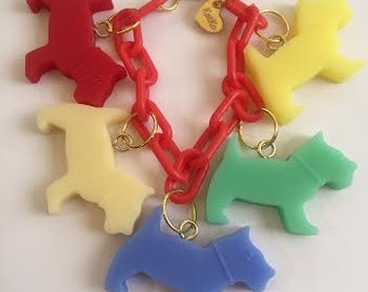 Scottie Dog Charm Bracelet