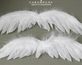 6 XL White Feather Angel wings