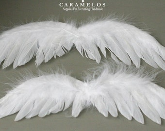 XL White Feather Angel wings