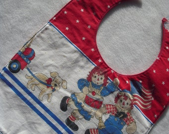 Designer Raggedy Ann and Andy Bib
