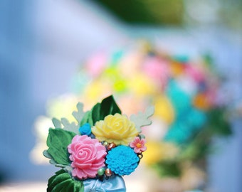 Handmade Flower  Corsage or Boutonniere PASTEL DELIGHT
