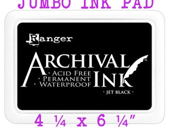 Ranger Archival Ink™ #3 Jet Black Jumbo Ink Pad 4.25 x 6.25 inches - BEST Price on Etsy