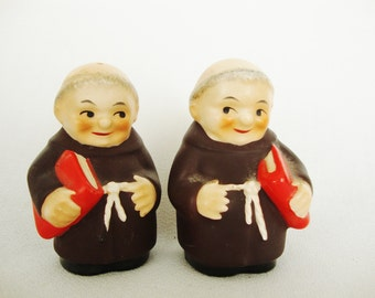 vintage goebel friar tuck salt and pepper