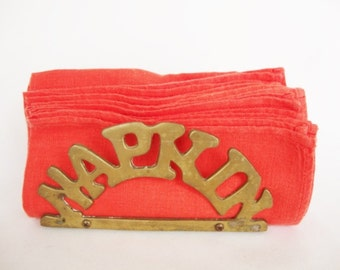 vintage brass napkin holder