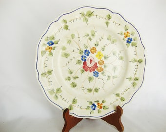 vintage french country plate provencial hand painted