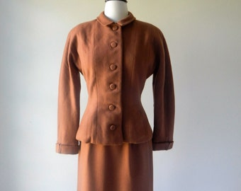 Tailored suit | vintage wool jacket and skirt | vintage 60s suit