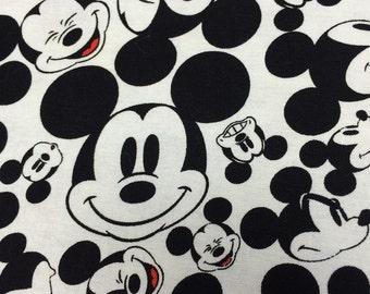 Cotton White Pillowcase with Mickey Mouse Print