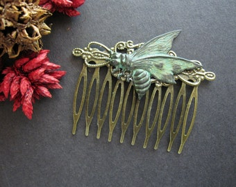 Bee Hair Comb, Honey Bee, Insect Hair Comb, Nature Inspired, Bug, Victorian Bee, Bee Wings, Decorative Comb, Woodland Wedding, For Her