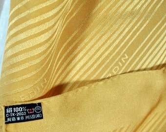 Vintage Pierre Cardin signature scarf - soft gold stripes