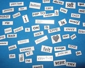 Fiber-Love Magnetic Word Set, use on any metal surface - make poems, messages, wish lists and more (by Interweave Press).