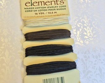 SALE !!! Waxed Cotton Jewelry Cord Neutral Mix ... 16 yds.