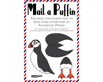 "Puffin Postcards, Set of 8 ""Mail a Puffin"" Postcards"