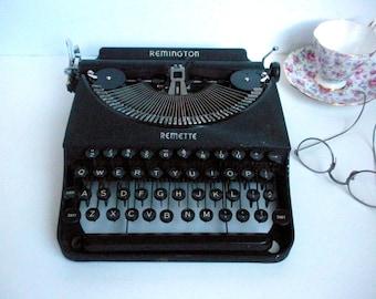 Vintage Remington Remette Typewriter with Case Portable 1939