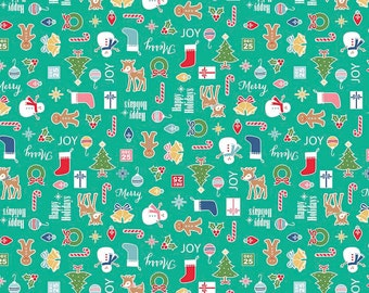 Cozy Christmas Main Print (C5360-Teal)