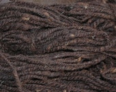 Natural Brown  Heavy Worsted Hand Spun Yarn