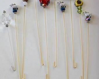 10 Spinning Wheel Threading Hooks - Style 5