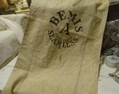 Vintage Shabby Linen Grain Sack